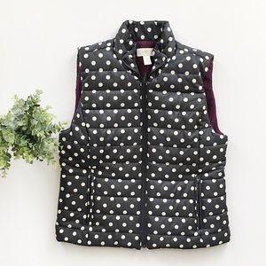 Loft Polka Dot Gray Puffer Vest